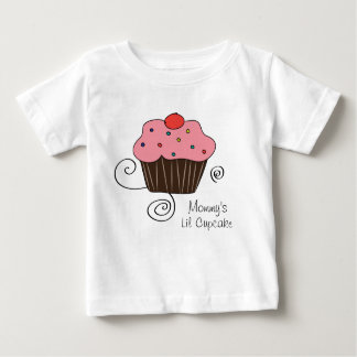Weinig Cupcake van de mama Baby T Shirts