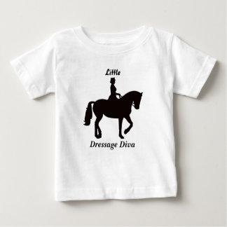 Weinig Diva van de Dressuur Bovenkant Baby T Shirts