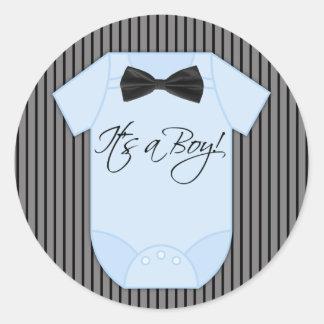 Weinig Douche van de Jongen van het Baby van het Ronde Stickers