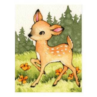 Weinig Fawn - het Leuke Art. van Herten Briefkaart