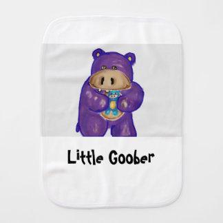 Weinig Goober de Doek van de Oprisping Hippo Baby Monddoekje