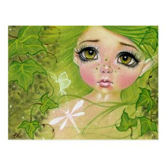 Weinig groen feebriefkaart briefkaart