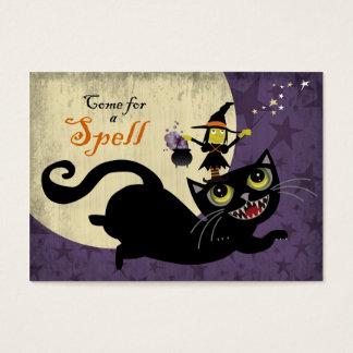 Weinig Heks die op een Vliegende Zwarte Kat Visitekaartjes