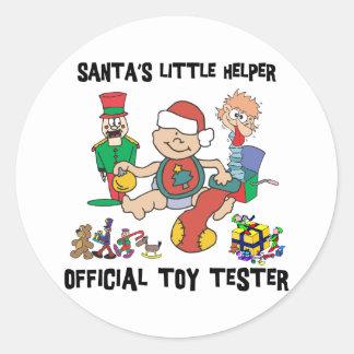 Weinig Helper van de Kerstman van 1st Kerstmis van Ronde Stickers
