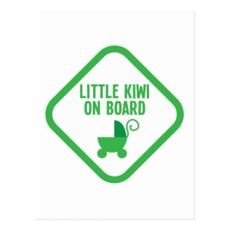 Weinig KIWI aan boord van Nieuw Zeeland Briefkaart