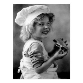 Weinig Meisje die van Baker Pastei eten Briefkaart