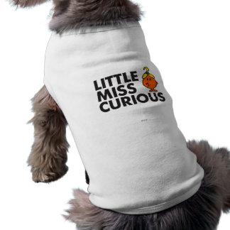 Weinig Misser Curious | het Zwarte Van letters Mouwloos Hondenshirt