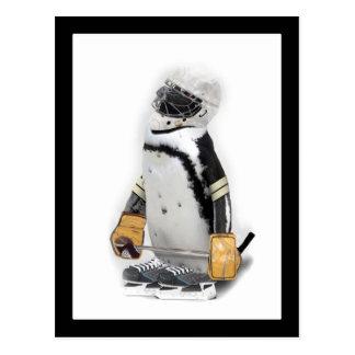 Weinig Pinguïn die het Toestel van het Hockey Briefkaart
