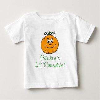Weinig Pompoen van Pepere Baby T Shirts