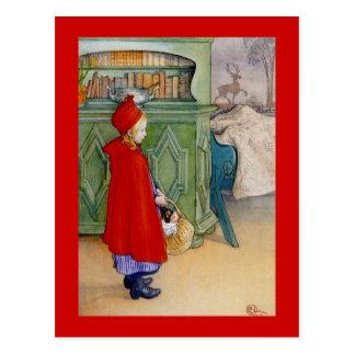 Weinig Rode Berijdende Kap 1913 Briefkaart