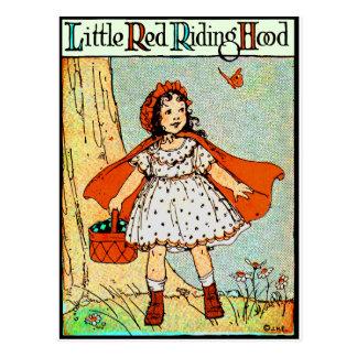 Weinig Rode Berijdende Kap Briefkaart