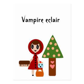 Weinig Rode Berijdende Kap ontmoet de Vampier Briefkaart