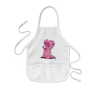 Weinig roze puppy Kokende Schort