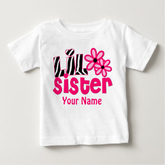 Weinig Roze Zebra Gepersonaliseerd Overhemd van de Baby T Shirts