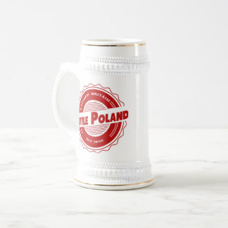Weinig Stenen bierkroes van het Bier van Polen Bierpul