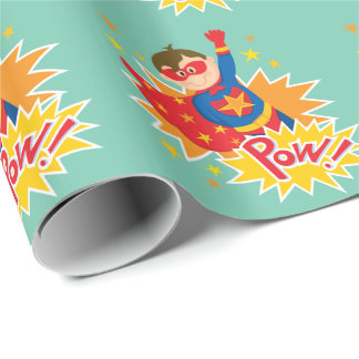 Weinig Superhero Inpakpapier