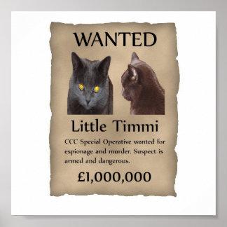 Weinig Timmi gewild poster
