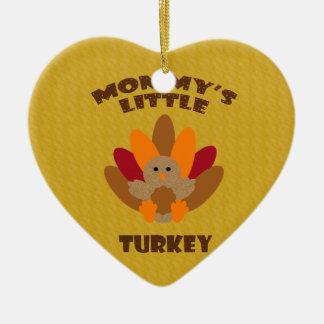 Weinig Turkije van de mama Keramisch Hart Ornament