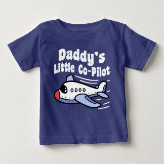 Weinig Tweede piloot van de papa Baby T Shirts