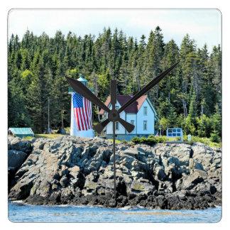 Weinig Vuurtoren van de Rivier, de Klok van Maine