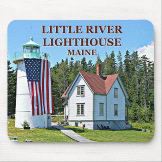 Weinig Vuurtoren van de Rivier, Maine Mousepad Muismat