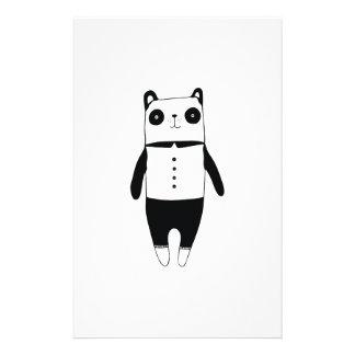 Weinig zwart-witte panda briefpapier