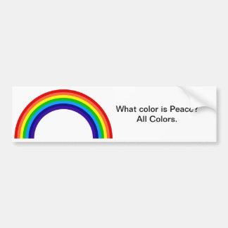 Welke kleur is Vrede? De Sticker van de bumper Bumpersticker