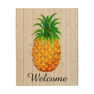 Welkom Ananas op Hout - SRF Hout Afdruk