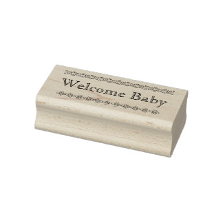 Welkom baby rubberzegel rubberenstempel