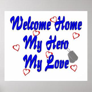 Welkom huis mijn Held mijn Liefde Poster
