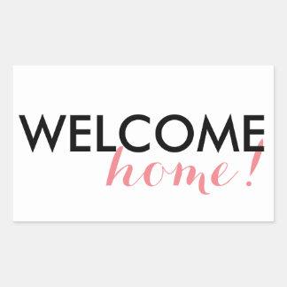 Welkom Huis! Rechthoekige Sticker