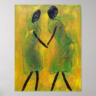 Welkom Rug - de Afrikaanse Druk van de Kunst Poster