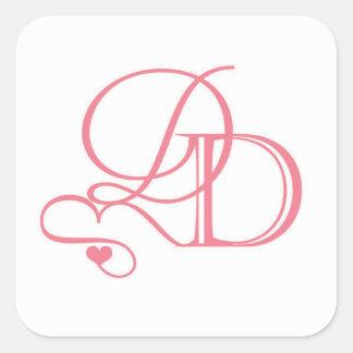 Welkome de zakstickers van Dana en van David Vierkante Sticker