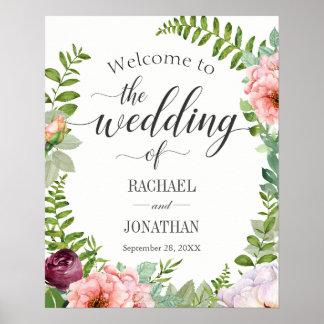 Welkome Signage van het Huwelijk van de fantasie Poster