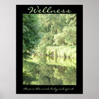 Wellness; vrede in de mening, het lichaam en de poster