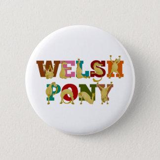 Wels Pony met kleurrijke teksten Ronde Button 5,7 Cm