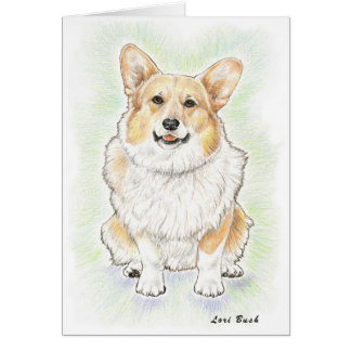 "Welse Corgi ""Bizzie"" Notecard Briefkaarten 0"