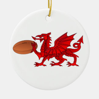 Welse Draak met een Ceramisch Ornament van de Bal