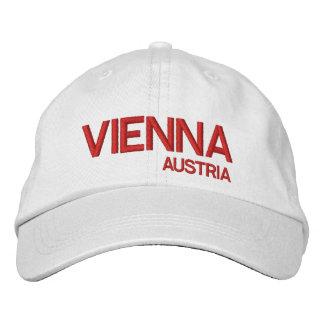 Wenen, het Witte Pet van het Honkbal Austrai* Geborduurde Pet