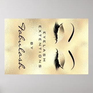 Wenkbrauwen van Glam Lux van de Naam van de Salon Poster
