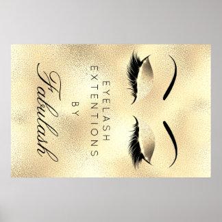Wenkbrauwen van Lux van de Naam van de Salon van Poster