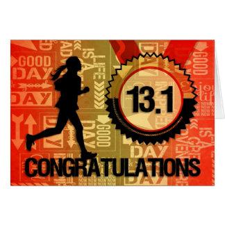 Wens de Halve Sporten van de Agent van de Marathon Briefkaarten 0