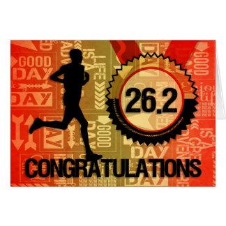 Wens de Mannelijke Agent van Marathon geluk 26.2 Wenskaart