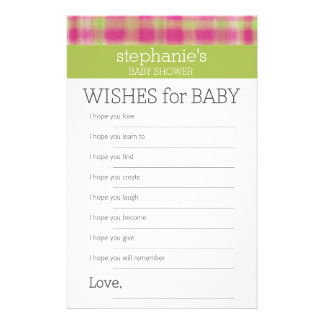 Wensen voor de Spelen van het Baby shower Briefpapier