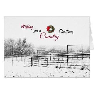 Wensend u een Wenskaart van Kerstmis van het Land