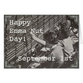 Wenskaart - 1 September - EMMA NUTT DAY
