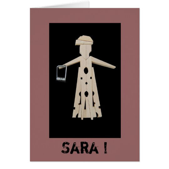 Wenskaart 50 Sara