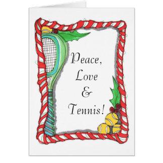 Wenskaart - het Tennis van het Riet van het Snoep