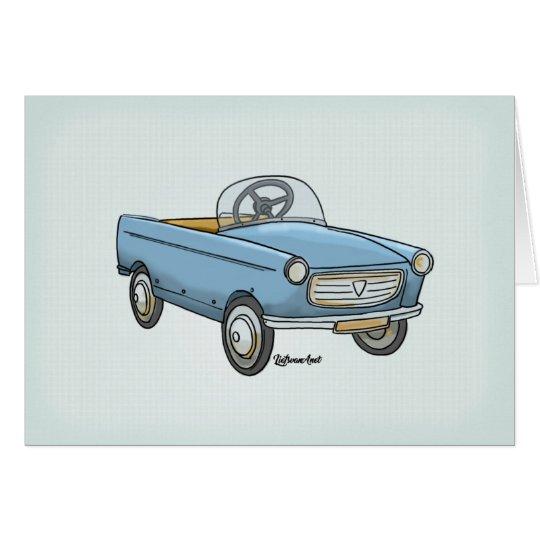 Wenskaart leuke Peugeot 404 vintage