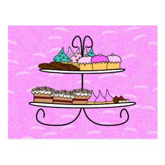 wenskaart - Party Girls - High Tea - cupcakes Briefkaart